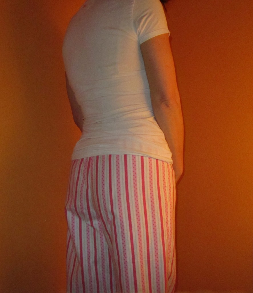 Candy cane pajamas...the back